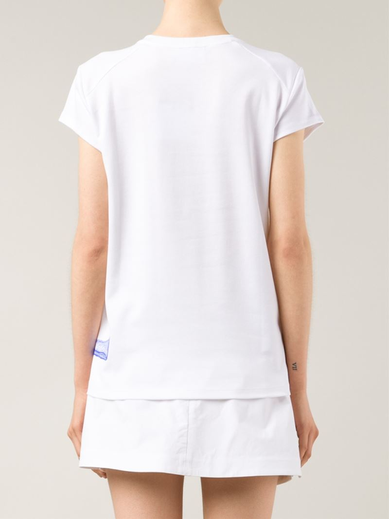 Lyst Courreges Logo Print T Shirt In White