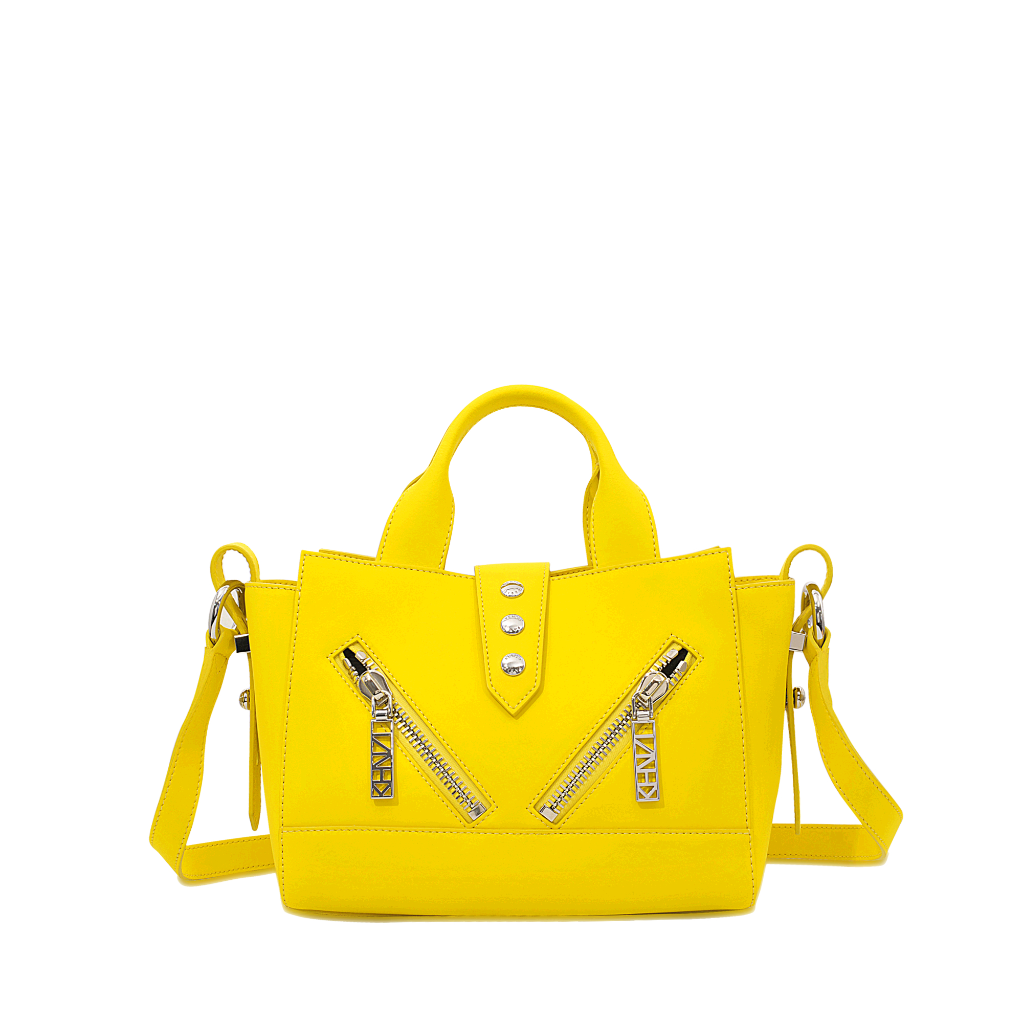 KENZO Leather Yellow Mini Kalifornia Bag
