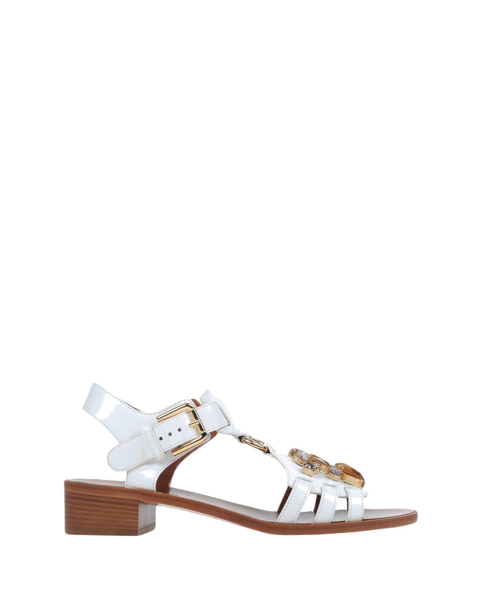 dolce gabbana sandals in white lyst
