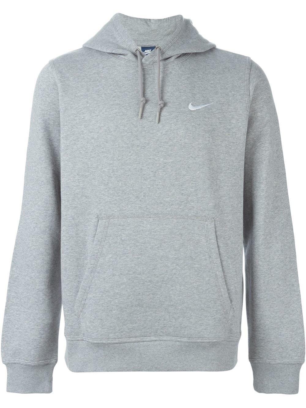 gray nike pullover hoodie