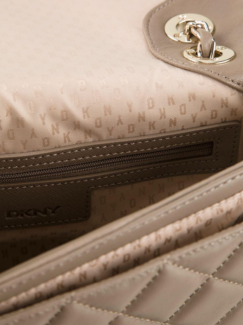 DKNY Quilted Crossbody Bag in Grey (Grey)