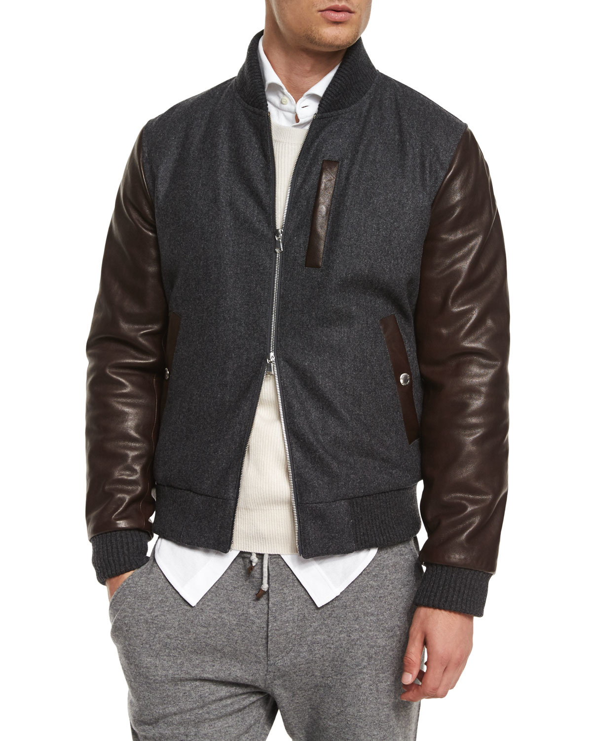At The Sales Brunello Cucinelli Mixed Media Wool Blend