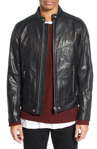 Diesel &39l-reed&39 Leather Moto Jacket in Black for Men | Lyst