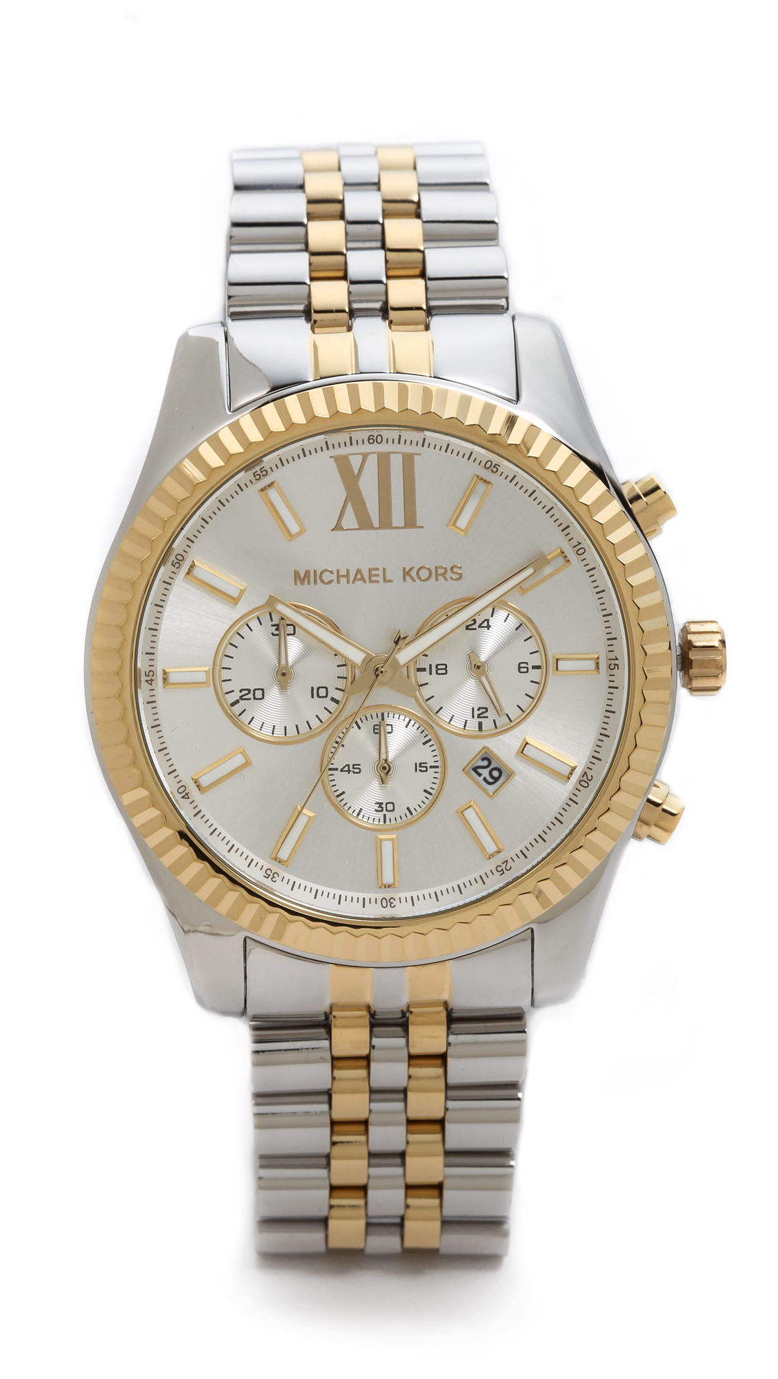 Lyst michael kors mens lexington watch in metallic for Watches michael kors