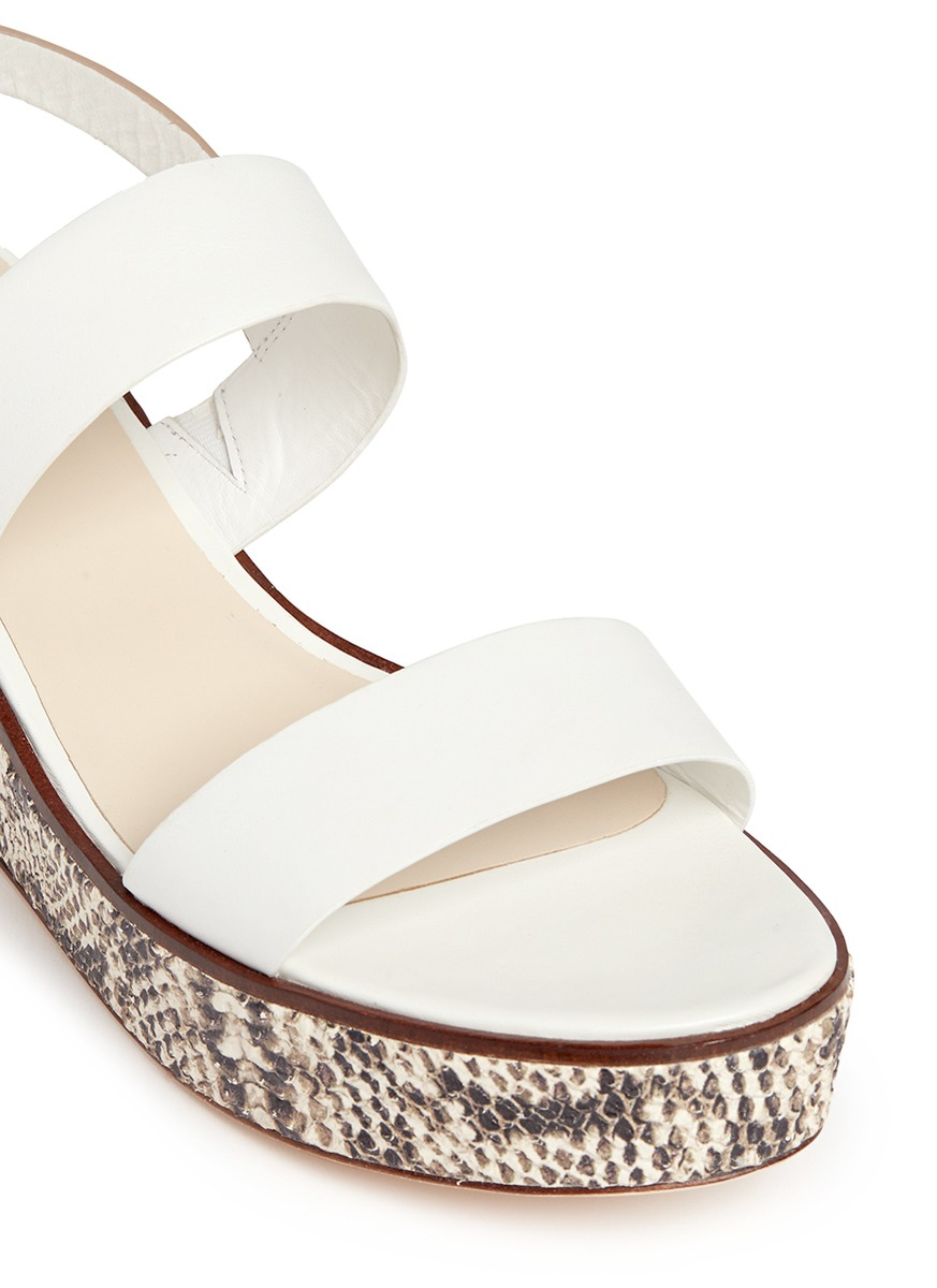 Cole Haan Cambon Snake Print Wedge Leather Slingback