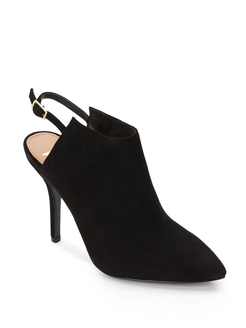 Vince Camuto Signature Calven Suede Slingback Booties In