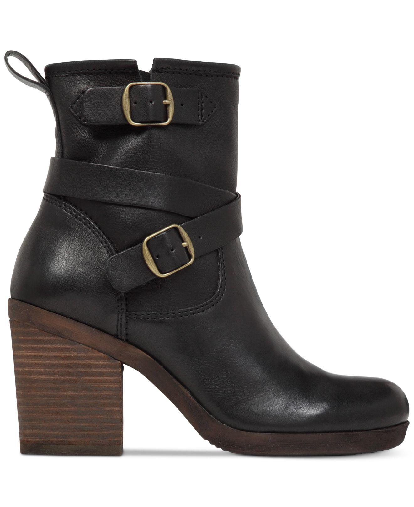 Lucky Brand Women S Orenzo Buckle Block Heel Booties In