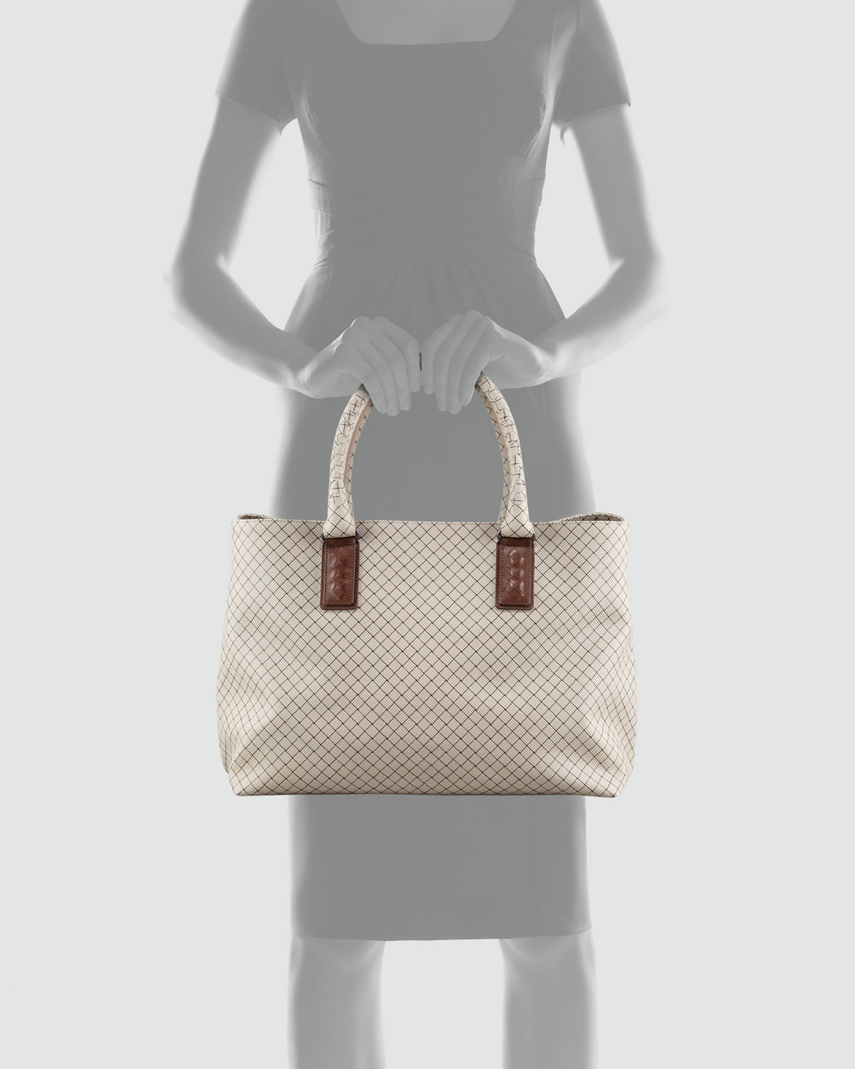 Bottega Veneta Marco Polo Tote In Gray Lyst