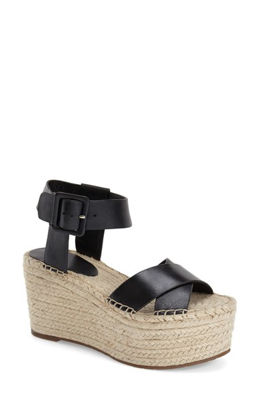 Marc Fisher Randall Platform Wedge In Black Lyst