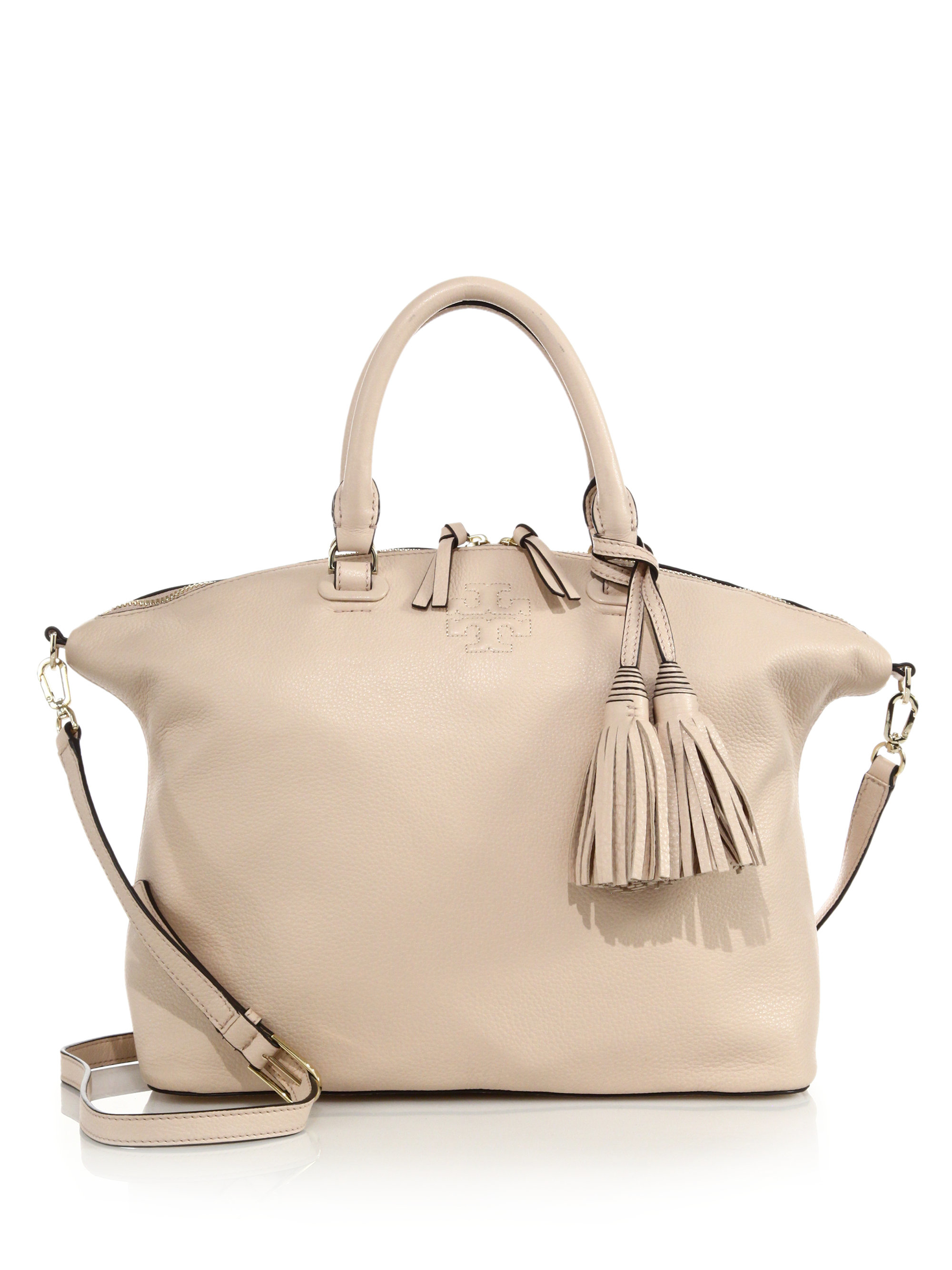 627213a8e108 Lyst - Tory Burch Thea Medium Slouchy Satchel in Natural