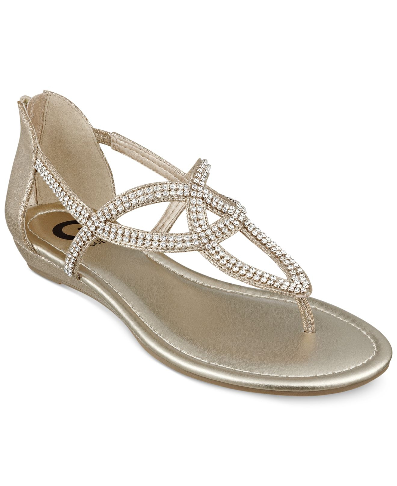 Guess Flat Shoes For Women Gold