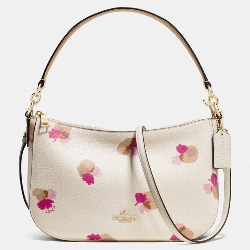 Coach chelsea floral leather across body bag in natural lyst gallery mightylinksfo