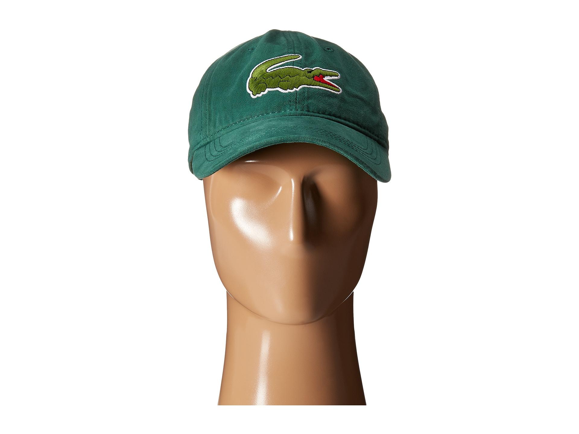 2f9713372 Lyst - Lacoste Big Croc Gabardine Cap in Green for Men