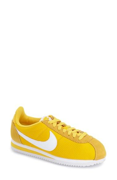Nike 'classic Cortez' Sneaker in Yellow