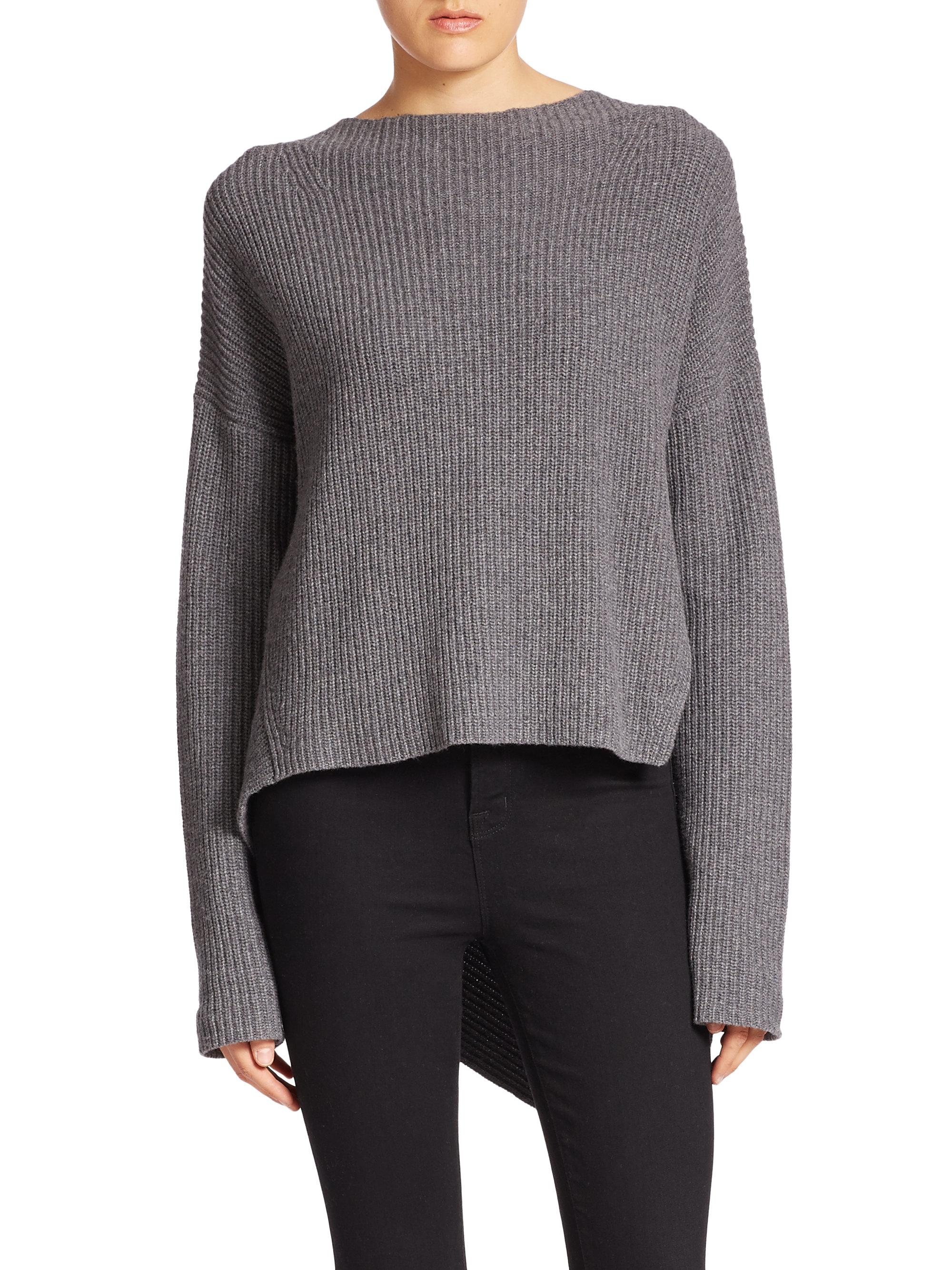 02e543137a7a45 Lyst - Brochu Walker Thandee Ribbed Asymmetrical Sweater in Gray