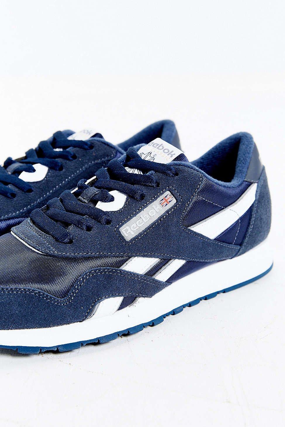 76246d01d549 Lyst - Reebok Classic Nylon Sneaker in Blue for Men