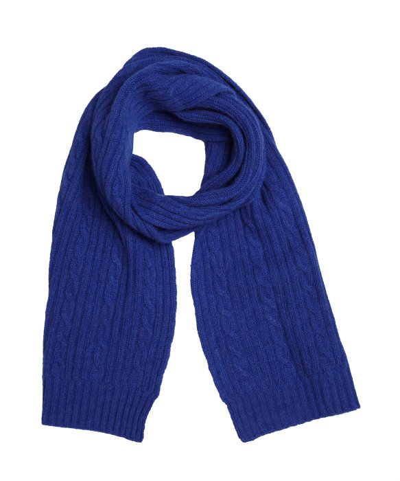 portolano royal blue cable knit scarf in blue lyst