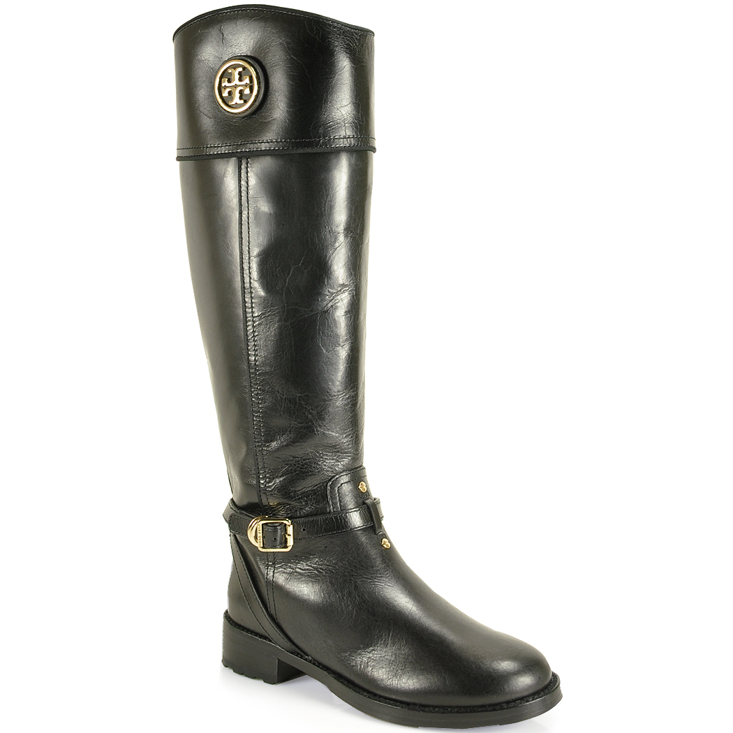 52a1bb066819d ... hot lyst tory burch teresa leather riding boot in black fba0d 3fe7f