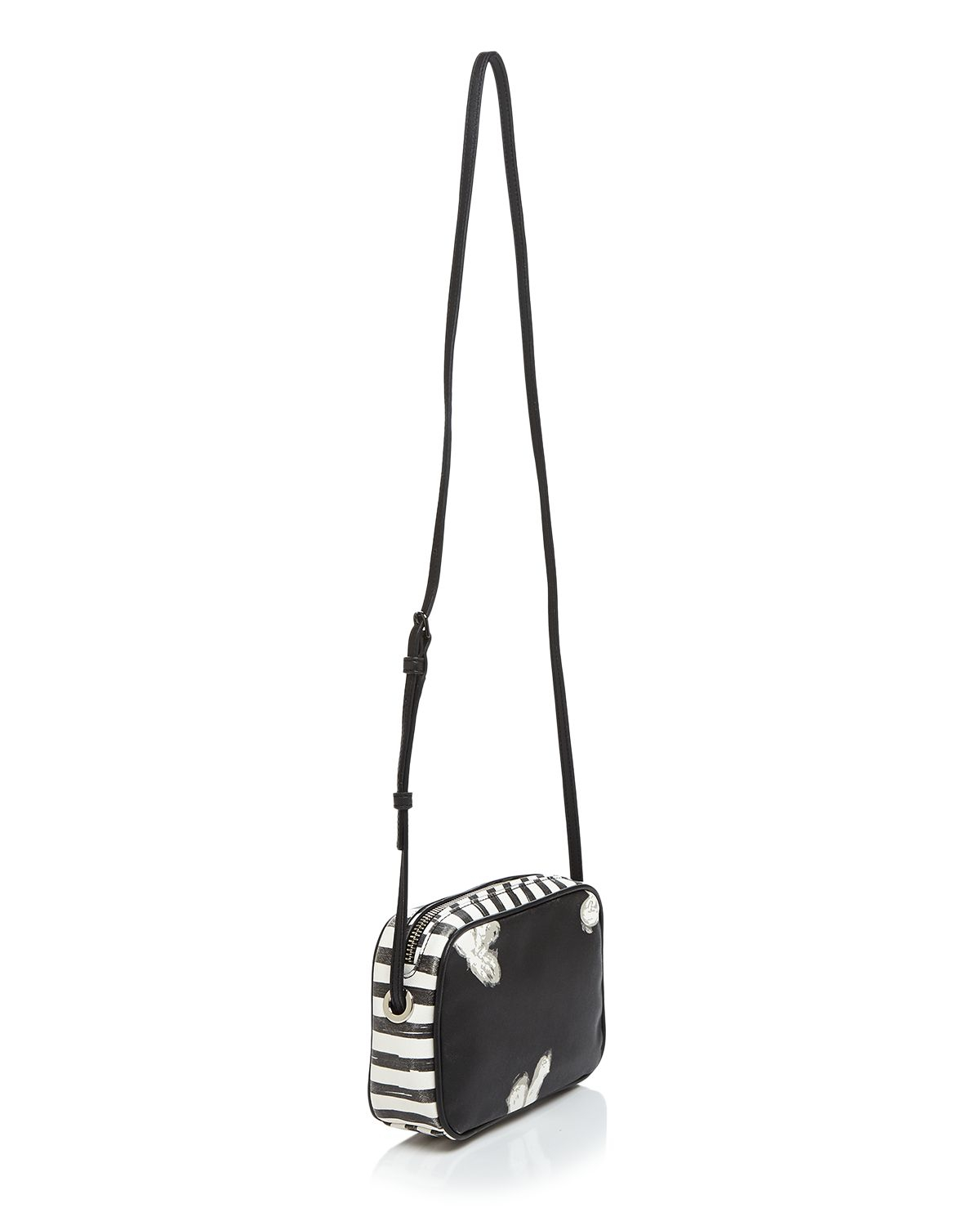 Marc By Marc Jacobs Crossbody - Sally Unsmiley Stripes in White