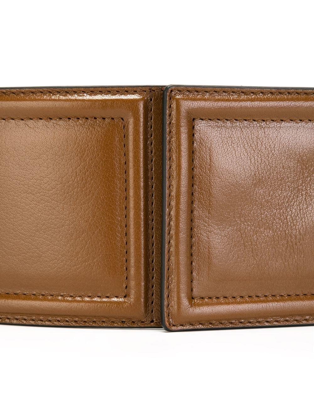 marni wide belt in brown lyst