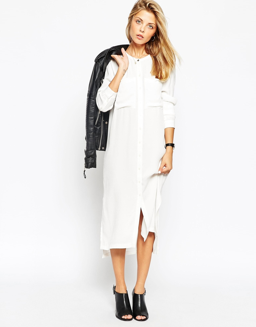 Midi Shirt Dress With Pockets
