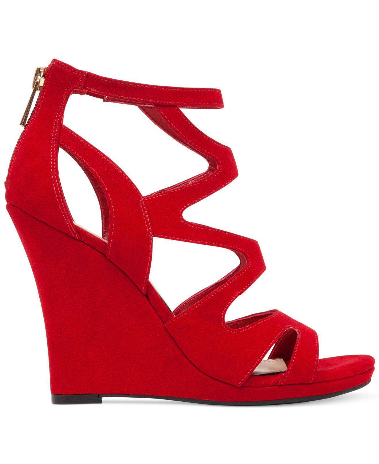 Bandolino Red Wedge Shoes
