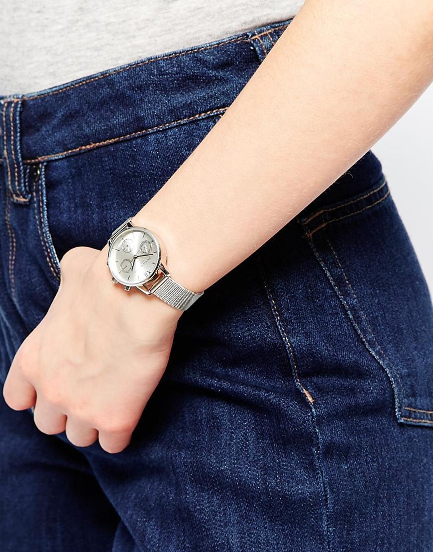 Lyst - Olivia Burton Silver Midi Dial Chronograph Watch in Metallic eaa63dd4c4
