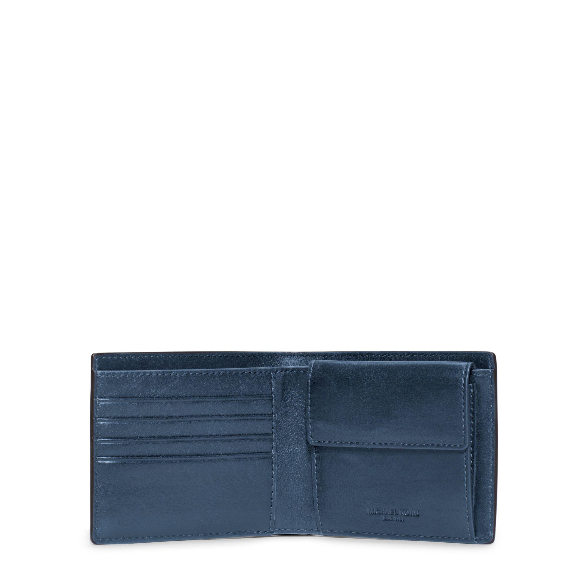 af1aa6968cefb3 Michael Kors Bryant Coin-pocket Embossed-leather Billfold Wallet in ...