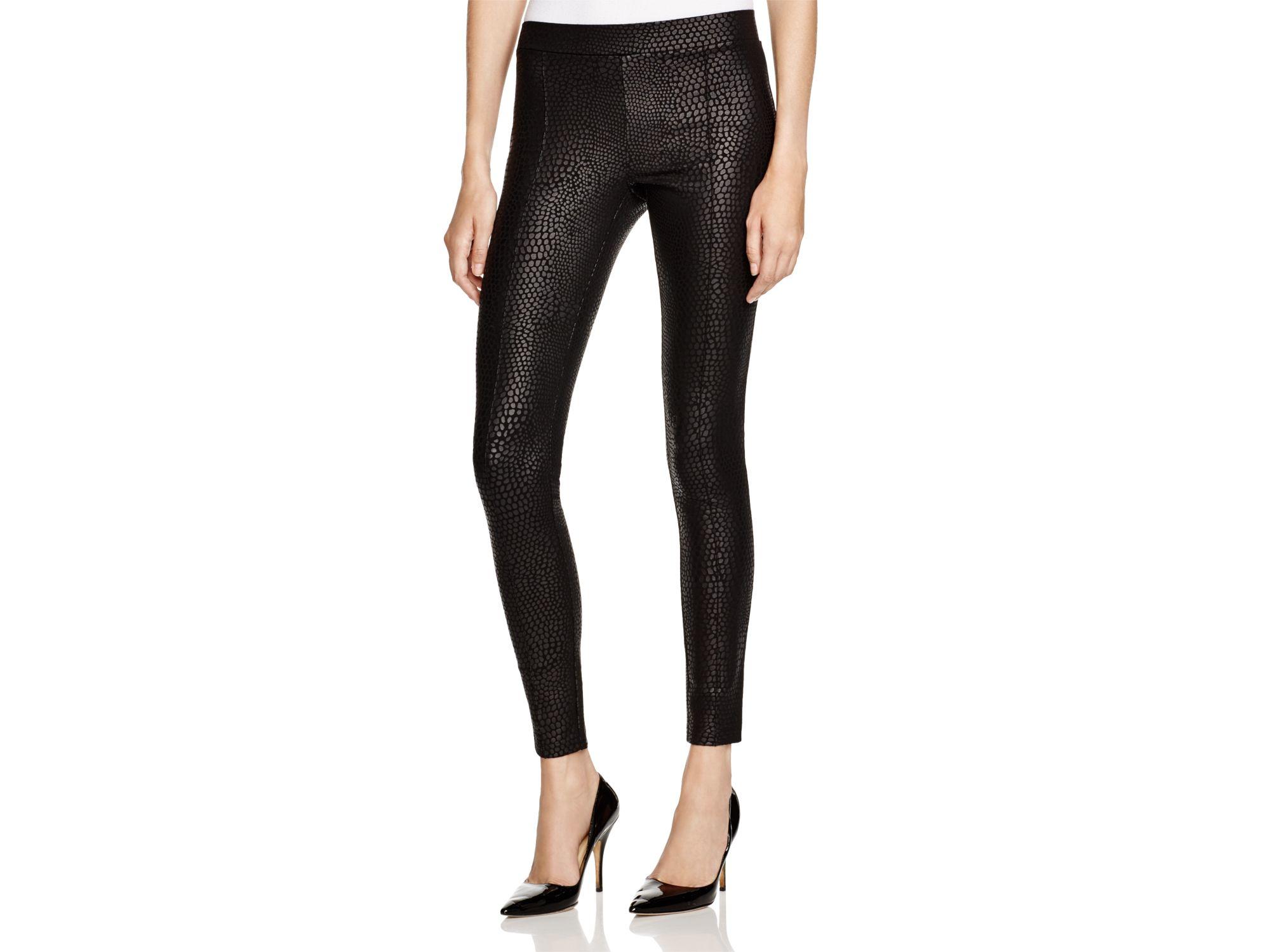 Hue Python Print Sleek Ponte Leggings in Black | Lyst