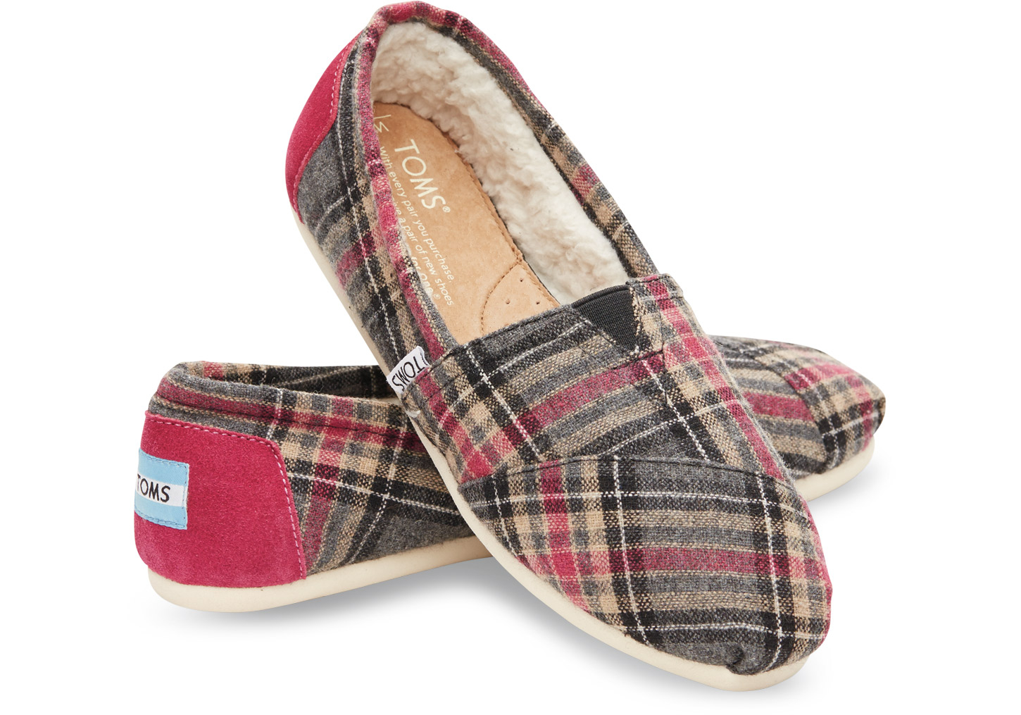 123a106dbfd TOMS Pink Plaid Women s Classics in Pink - Lyst