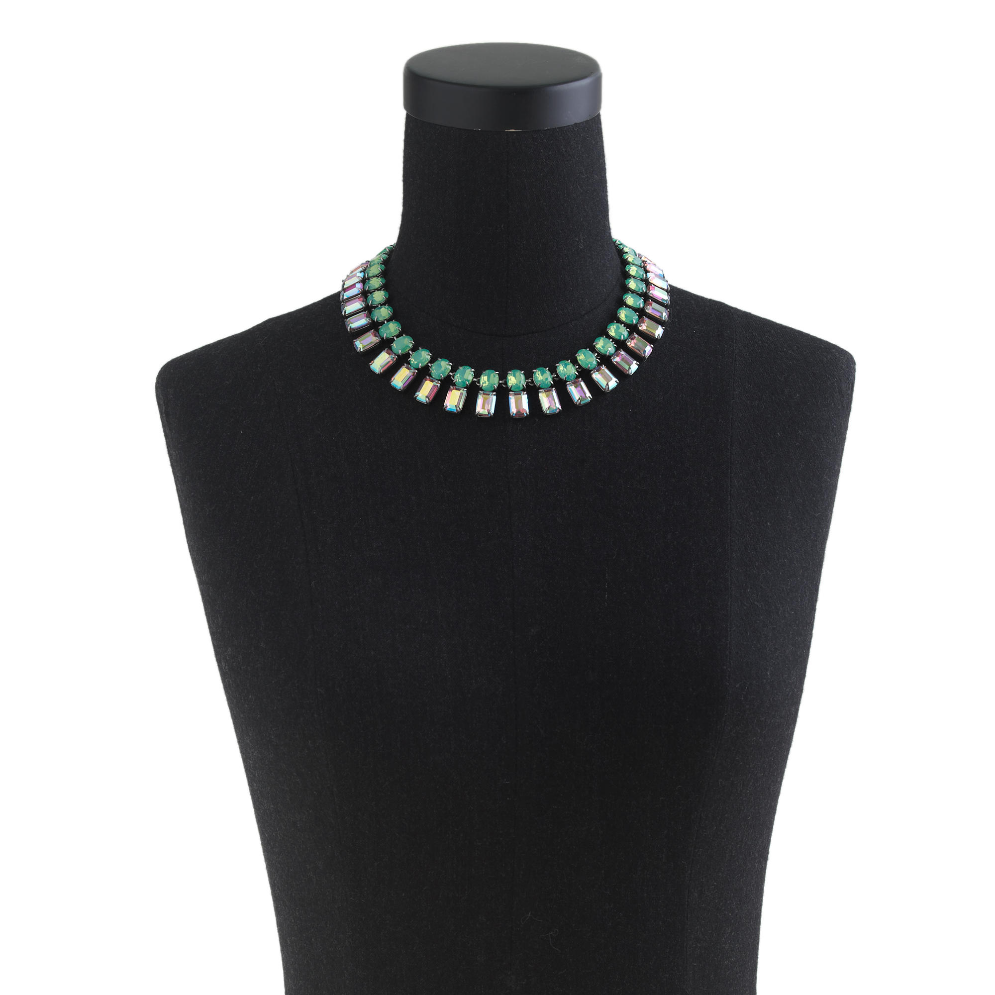 J.Crew Iridescent Bar Necklace in Green