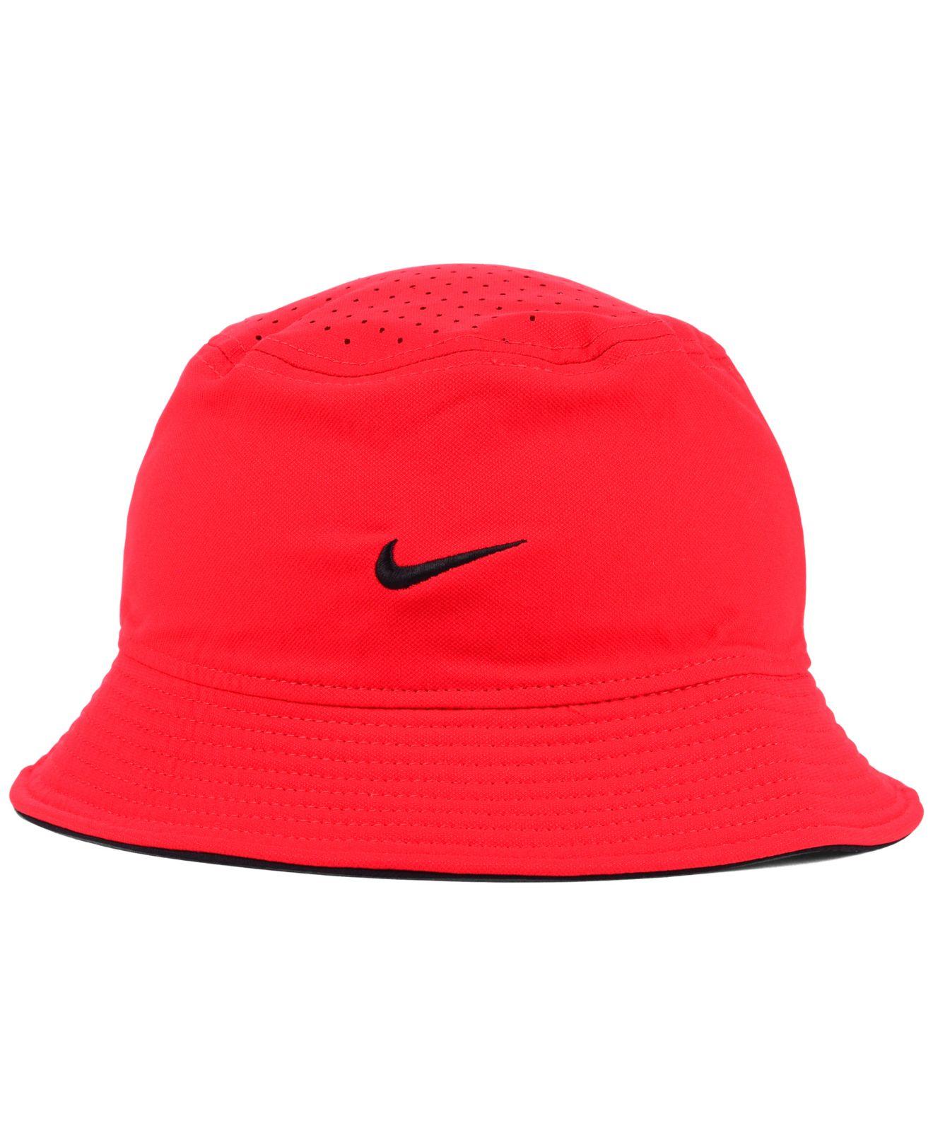 5dd21d527653 Nike Georgia Bulldogs Vapor Bucket Hat in Red for Men - Lyst