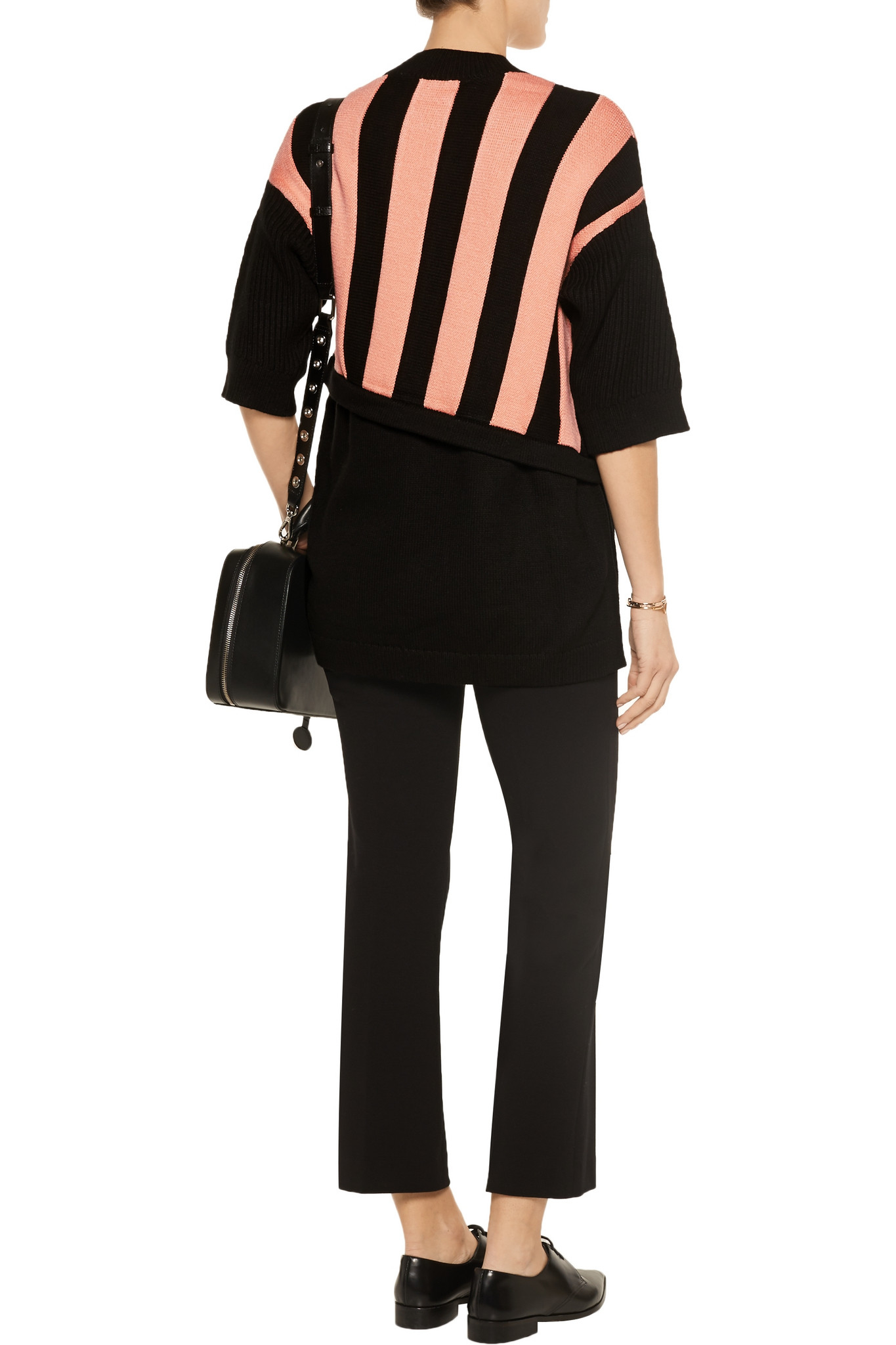 3.1 Phillip Lim Synthetic Two-tone Jacquard-knit Sweater in Black