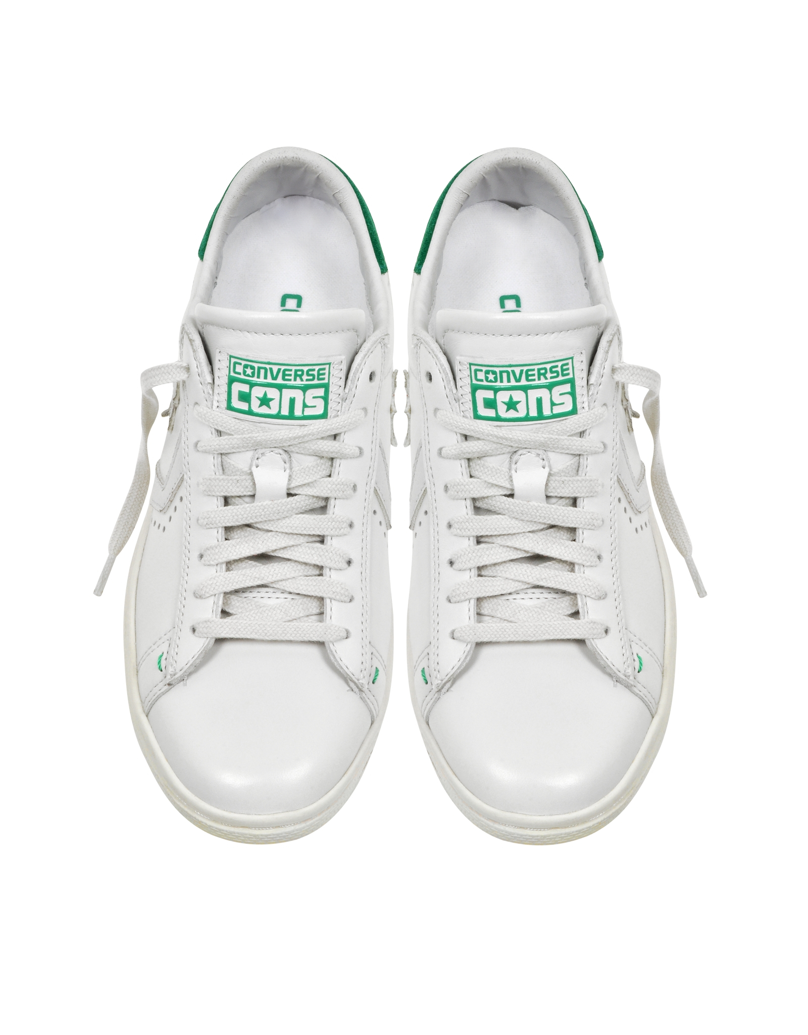 c7922f84c599 Lyst - Converse Cons Pro Leather Lp Ox White Dust And Green Sneaker ...