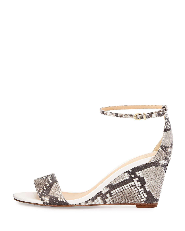 Alexandre Birman Python Wedge Sandals discount with credit card dG7dMlgf8