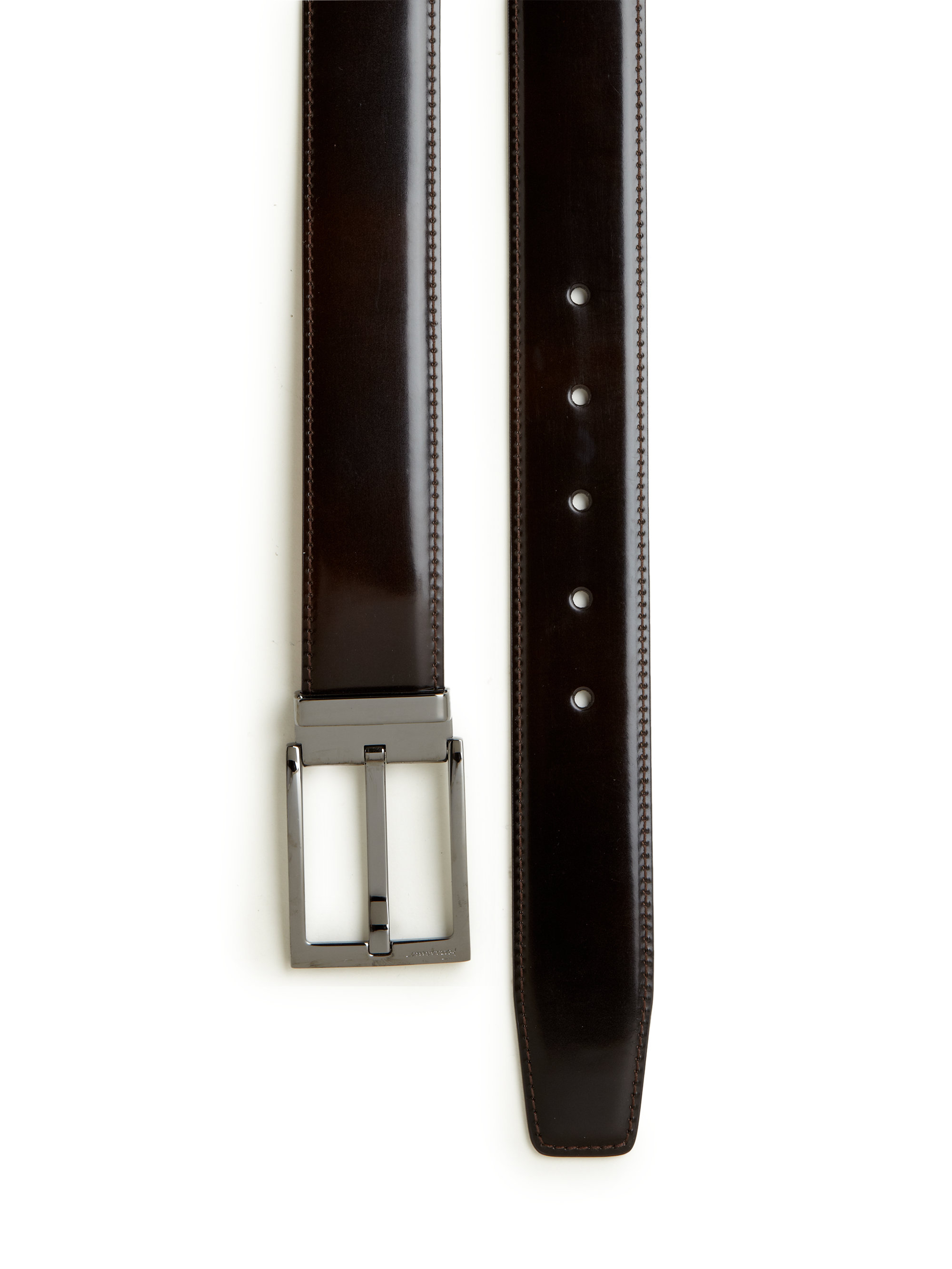 Ferragamo New Real Adjustable Leather Belt in Brown for ...