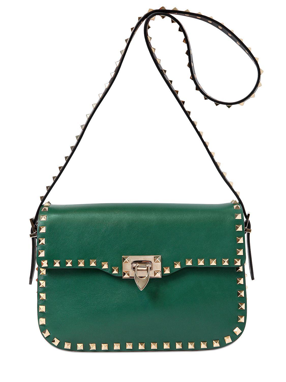 64a54fc7e6f3 Valentino Rockstud Camera Bag Green