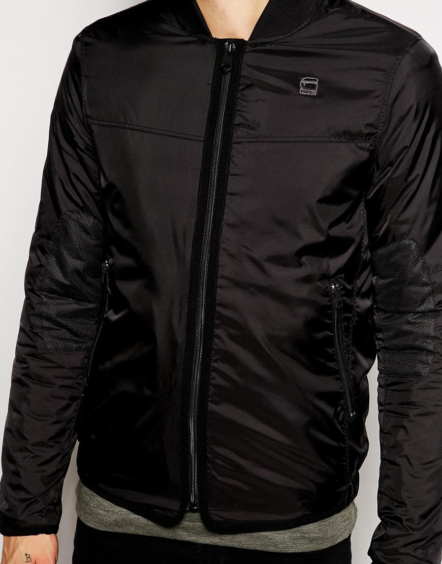 g star raw g star bomber jacket setscale nylon in black for men lyst. Black Bedroom Furniture Sets. Home Design Ideas
