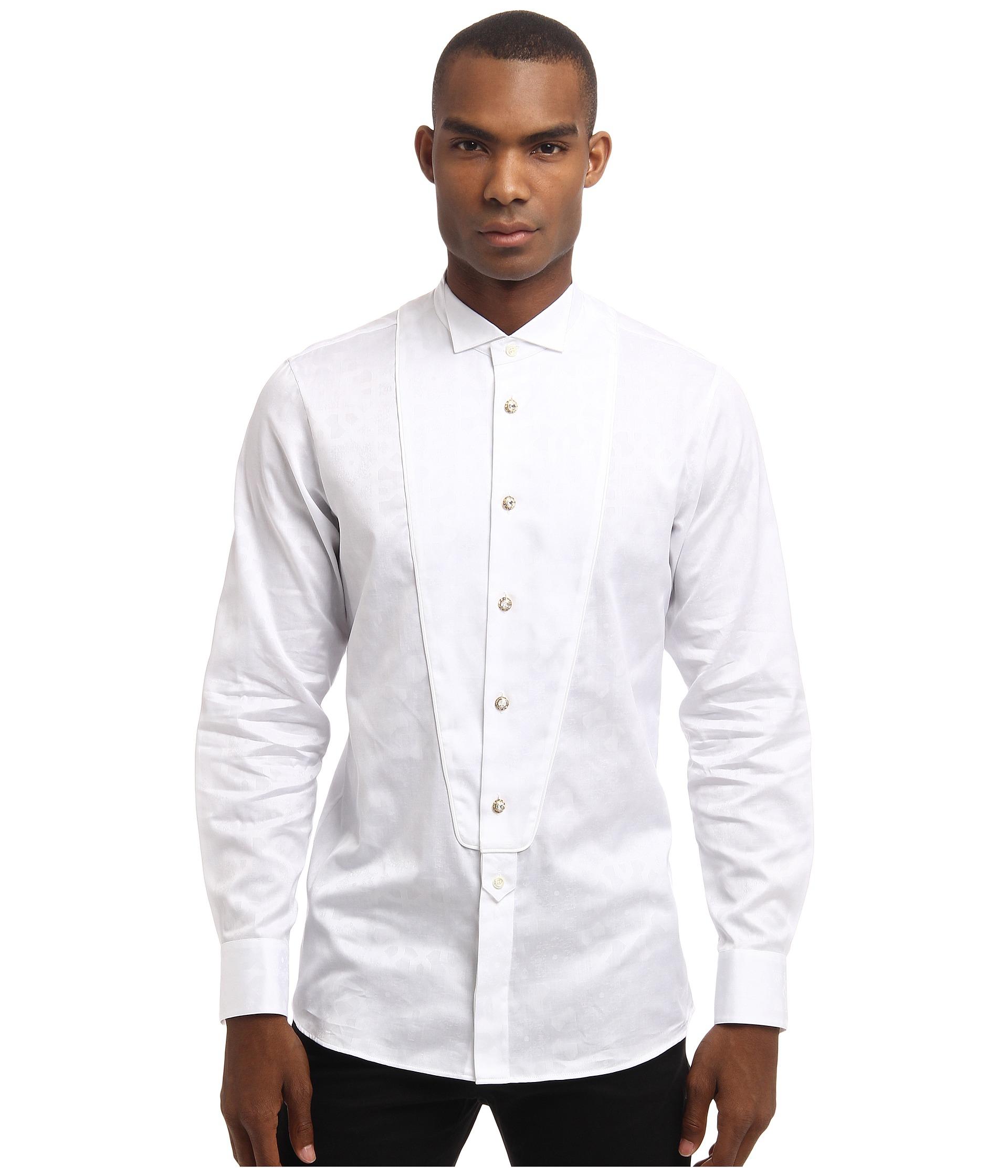 Lyst vivienne westwood runway agra jacquard tuxedo shirt for Tuxedo shirts for men