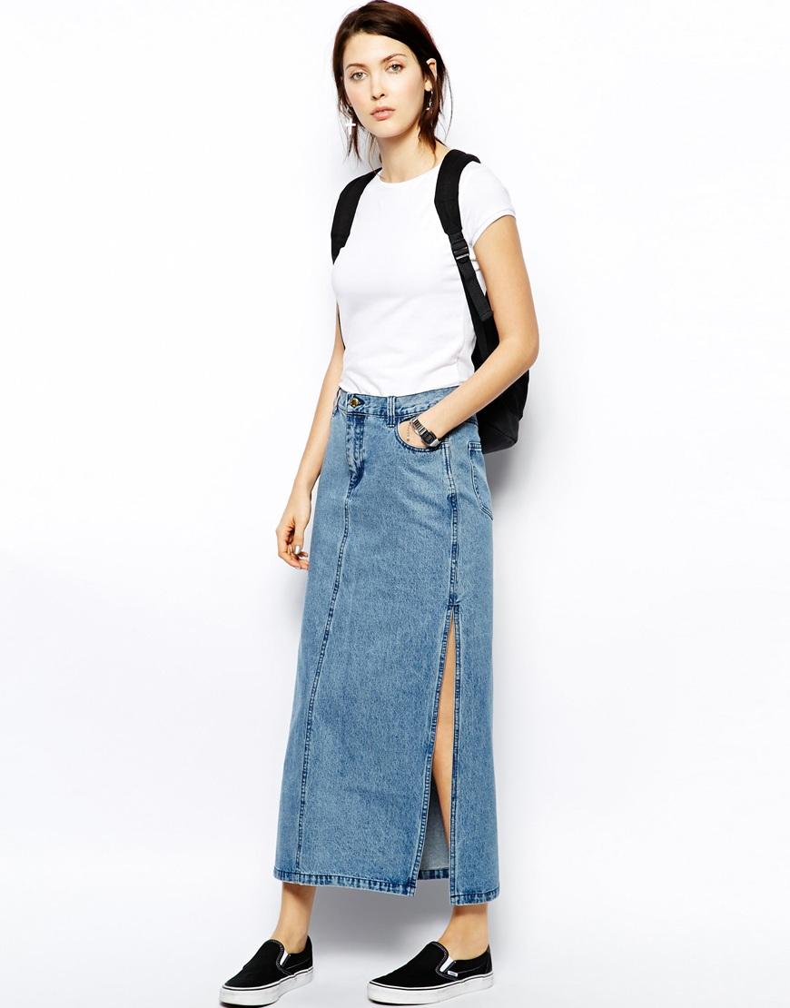 76291d36de Blue Jean Maxi Skirt