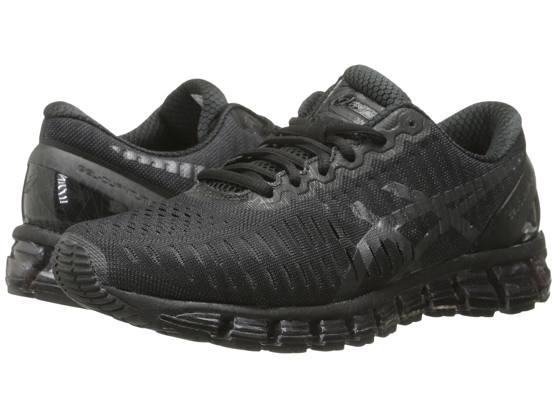 asics gel quantum 360 in black for men black jet black lyst. Black Bedroom Furniture Sets. Home Design Ideas