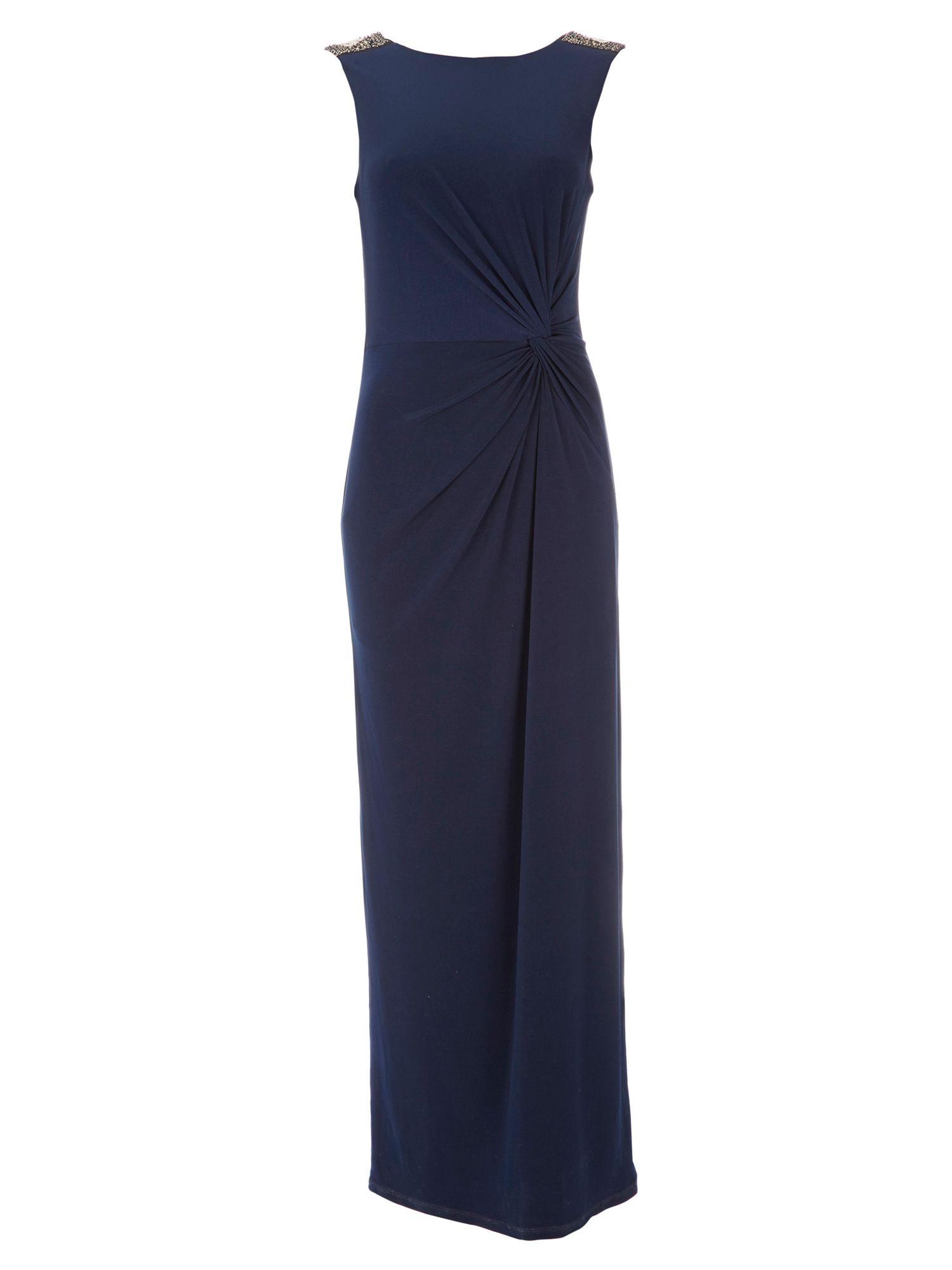 Wallis Navy Embellished Dress In Blue Navy Lyst