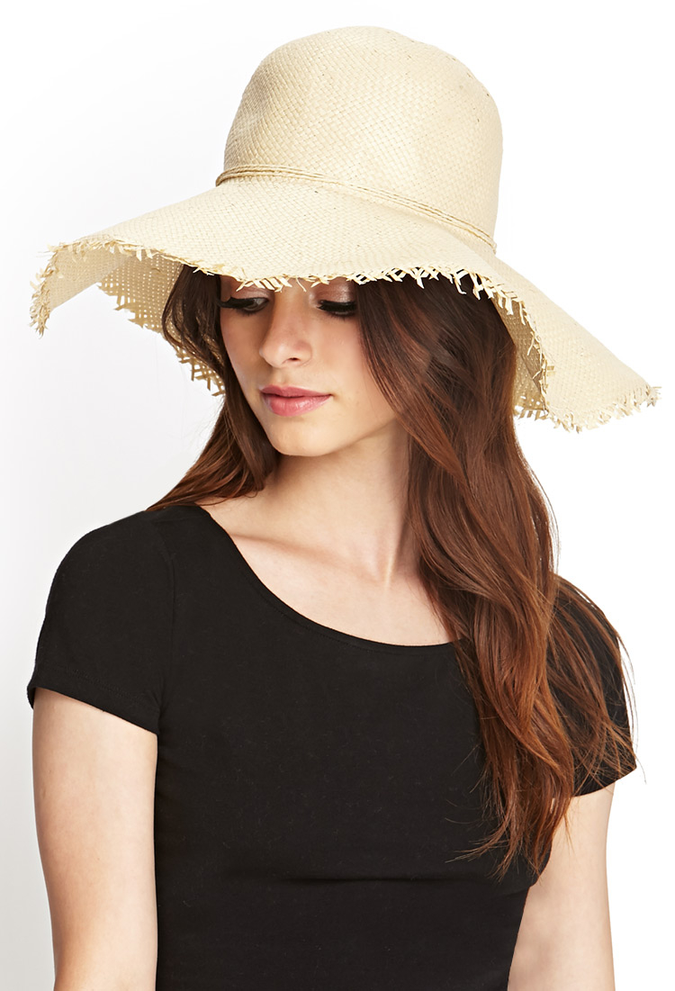 43db9804d88 Lyst Forever 21 Frayed Straw Sun Hat In Natural. Forever 21 Wide Brim Straw  Hat. 8 Chic Floppy Sun Hats ...