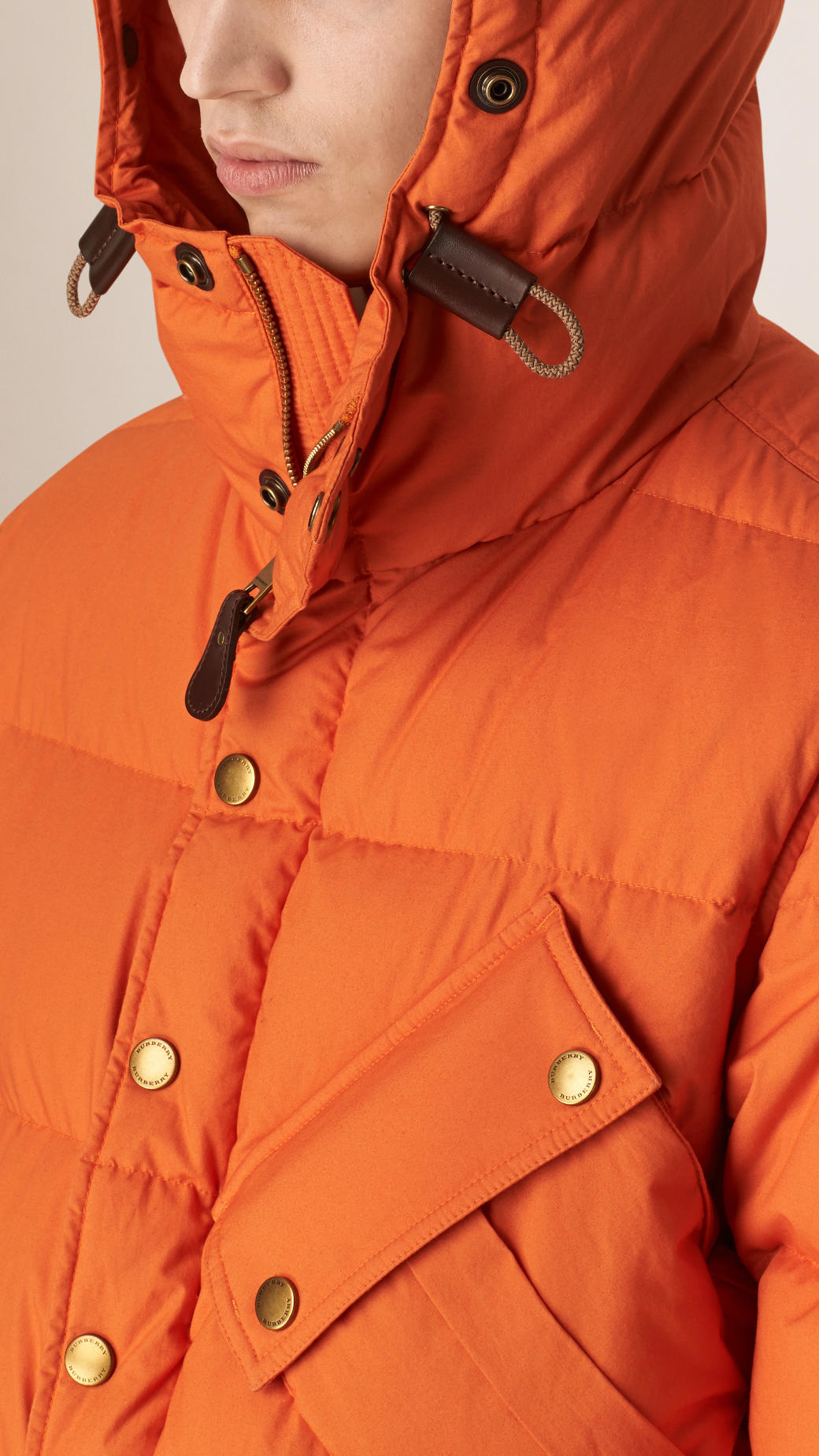 Burberry Down-filled Puffer Jacket in Orange Saffron (Orange) for Men