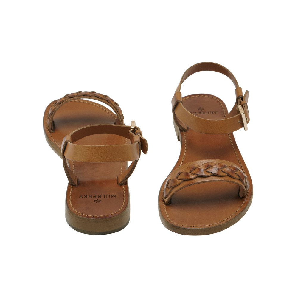 d6926abbbb62 Lyst - Mulberry Braided Strap Flat Sandal in Brown