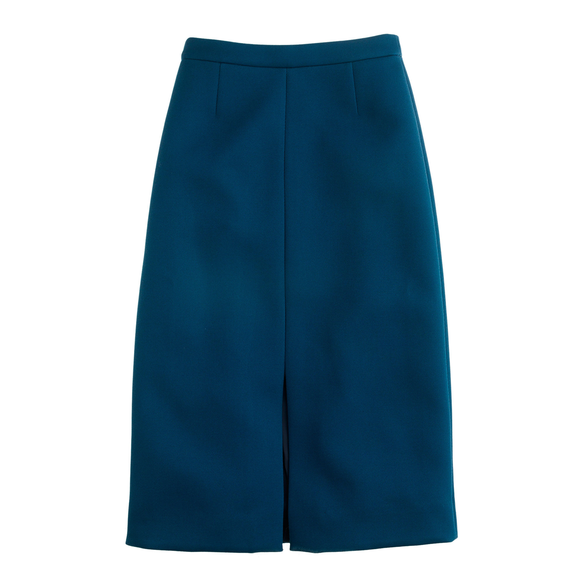 j crew a line skirt in bonded twill in blue lyst