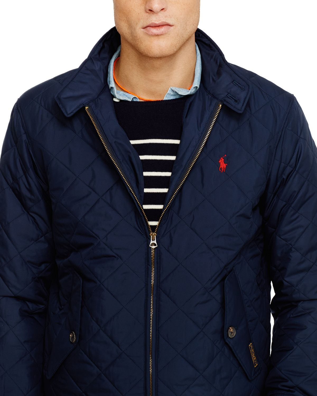 dc6101490638e9 Lyst - Ralph Lauren Quilted Barracuda Jacket in Blue for Men