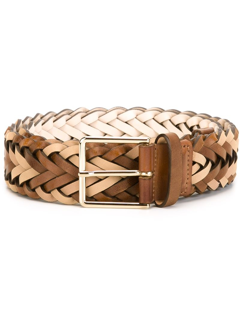 paul smith woven belt in brown for lyst