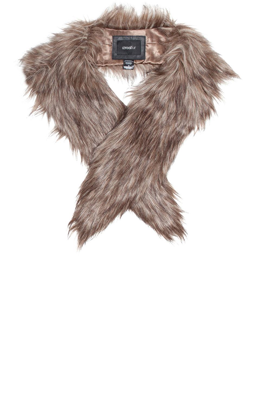 unreal fur fur niche stole in beige natural lyst. Black Bedroom Furniture Sets. Home Design Ideas