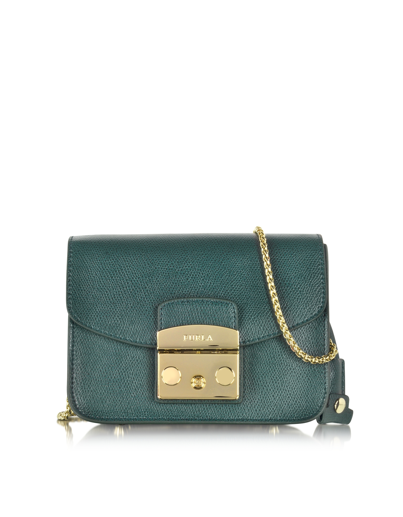 8249db19f88e Furla Metropolis Malachite Leather Shoulder Bag in Metallic - Lyst